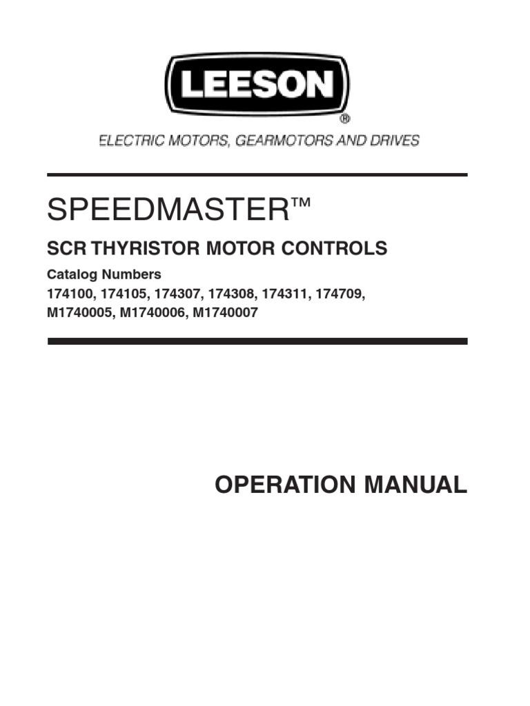 Leeson Electric M1740009.00 0-130 V DC Motor Speed Control 115 VAC Input