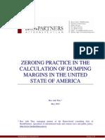 Antidumping zeroing practice