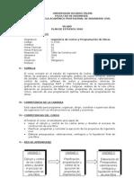 Ing. de Costos y Programacion de Obras