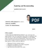 HRM of CBI
