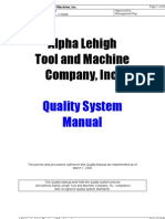 Alpha Lehigh Quality Manual