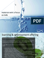 overview of learning and development material with a focus on b4b
