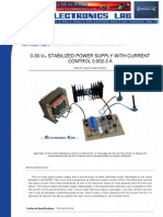 0-30 Vdc Stabilized Power Supply With Current