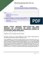 NORMA OFICIAL MEXICANA NOM-017-PESC-1994