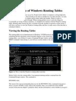 Making Sense of Windows Routing Tables