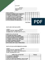 pauta de evaluación del trabajo