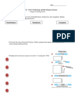 DNA Technology and the Human Genome Worksheet