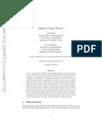 Baez, John; Schreiber Urs - Higher Guage Theory I