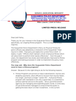 Suquamish Police Department Physical Fitness Press Release Final