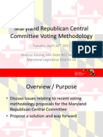 Maryland Republican Central Committee Voting Methodology - 20110426