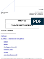 Counter Intel United States Army Fm 34-60 - 3 October 1995