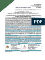 Birla Pacific Medspa Ltd.