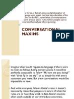 Conversational Maxims