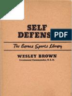 Self Defense Wesley Brown 1951