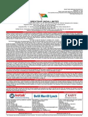 Greatship India Ltd    Stocks   Initial Public Offering