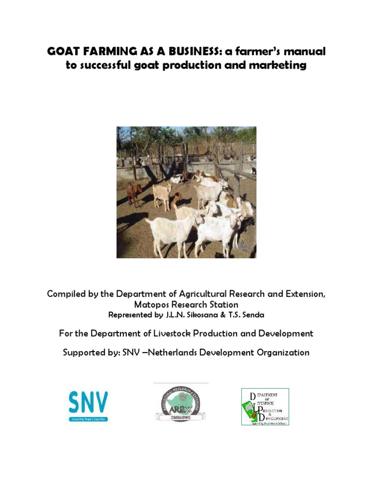 Goat Farming as a Business - A Farmers Manual | Goat | Tooth