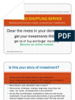Portfolio Shuffling Service-solution for Investors Seeking Advice for Their Existing Stock Portfolio