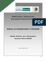 Manual de Organizacion y Funciones - SOFIPO Mar 2010