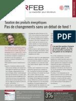 Taxation des produits énergétiques. Pas de changements sans un débat de fond ! - Infor FEB 16, 5 mai 2011