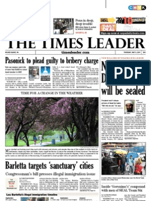 Times Leader 05 05 2011 Osama Bin Laden Bribery