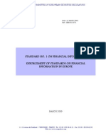 Standard No 1 on Financial Information