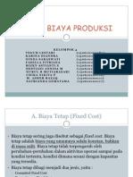 Teori Biaya Produksi Kelompok 4
