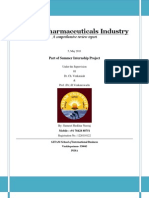 Best Pharma Industry Report 2011 (India)