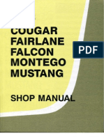 1968 Cougar, Fairlane, Falcon, Montego & Mustang Shop Manual
