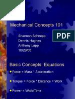 Mechanical Concepts 101