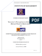 Investor Perception Selection Mutual Fund Hyderabad Project(2)