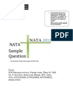 Nata Sample Paper