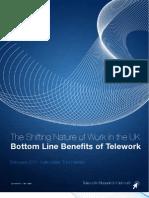 Bottom Line Benefits of Teleworking