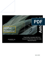 Prep Guide - Autodesk AEC-Civil Channel Certification Exam for Sales Representatives