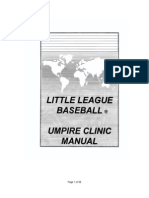 Little League Baseball Umpire Clinic Manual