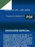 DECRETO 170 – LEY 20201