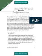Failure Analysis of a 105mm Fin Deployment Mechanism