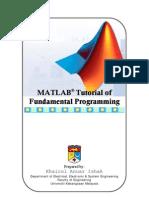 MATLAB Tutorial of Fundamental Programming