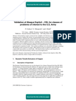 Validation of Abaqus Explicit – CEL for classes of problems of interest to the U.S. Army
