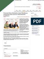 05-05-11 Presenta Marco Bernal la revista Plataforma, propuestas ante el severo estancamiento económico