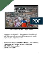 Agenda Cultural Zacatecas Mayo 2011