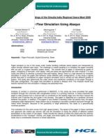 Paper Flow Simulation Using Abaqus