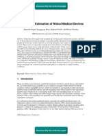 Fatigue Life Estimation of Nitinol Medical Devices