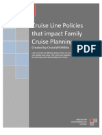 Cruise Line Family Policies Guide