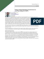Modeling of Three Winding Voltage Regulating Transformers