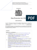 Data Protection Act 1998, UK Week 11