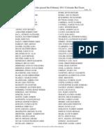 Alphabetical Pass List