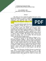 Irimiea_Rhetorical -Halliday Analysis of Obama_Geoana_speeches