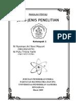 JENIS-JENIS+PENELITIAN