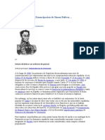 Emancipacion de Simon Bolivar