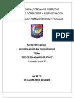 Definicion de Proceso Administrativo Recopilacion